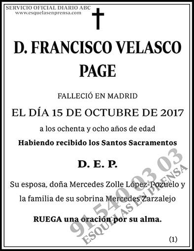 Francisco Velasco Page